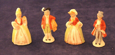 2 Pairs Germany Miniature Bisque Figurines Victorian Doll House? 20714 & 20175 #