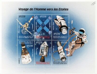Space Exploration/Journey to the Stars/Spacecraft Stamp Sheet #3 2000 Madagascar