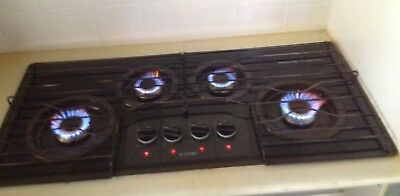 Chef Natural Gas 4 Burner Glass Cook top