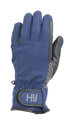 Hy5 Waterproof Softshell Riding Gloves Navy Multi Size PR-13476