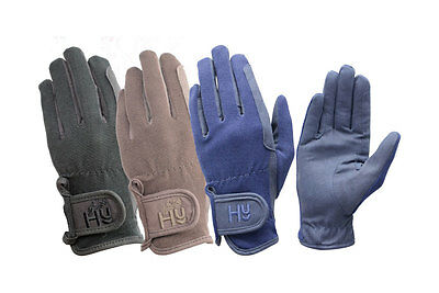 Hy5 Every Day Riding Gloves Navy/Black/Brown Various Size PR-3040