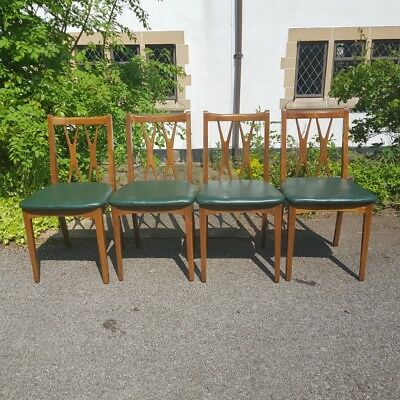 A Rare Funky Retro Mid Century Industrial Style Set of 4 Chairs by Lebus Link