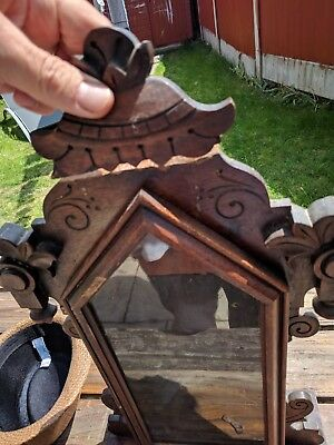 Ansonia Clock Antique case only no mechanism or parts for project needs repair,