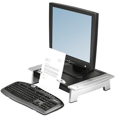 FELLOWES monitor raiser stand desk extension organiser shelf