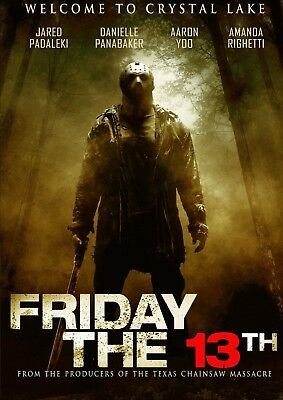 """Friday 13th""...Jared Padaleki..Classic 2009 Horror Movie Poster..Various Sizes"