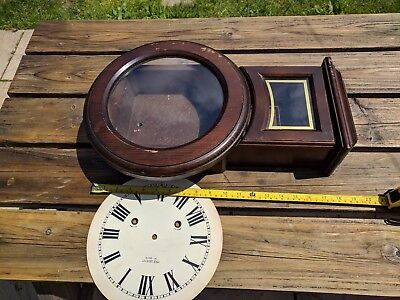 VINTAGE PRESIDENT WALL CLOCK case and face with glass intact ,case only as seen