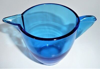 Akro Agate Large Stippled Band Trans Blue Teapot ~ Child Tea Set