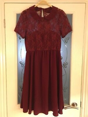 Ladies Clothes Size 10 ASOS Maternity Dress Lace Occasion Party Smart Vgc