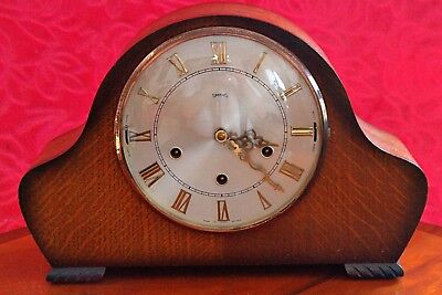Vintage Art Deco 'Smiths' 8-Day Mantel Clock, Westminster & Whittington Chimes