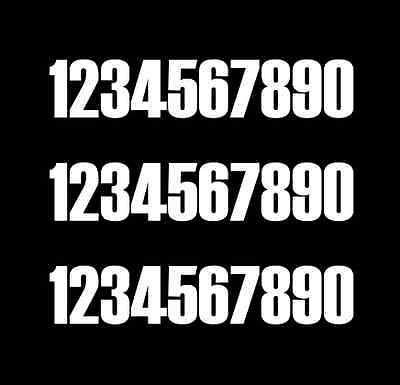 Pack of 30 150mm acu legal race numbers (black, white, blue, red)