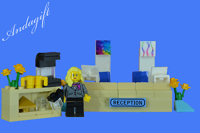 LEGO reception desk office hotel doctor hospital station school minfigure
