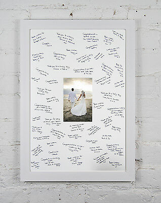 WHITE FRAME WEDDING Signing Signature Guest Book With Free Gel Pen ...