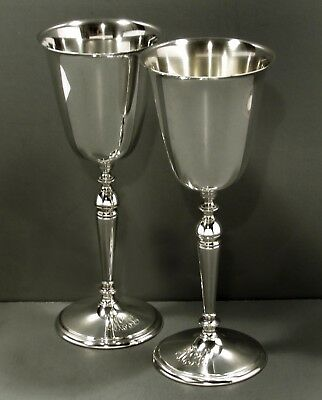 """R. W. Wallace Sterling Goblets  (2)  c1920     """"PALACE SIZE""""      """" 9 INCHES """""""
