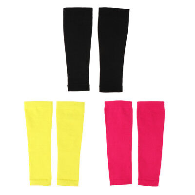 Pack of 2 Leg Knee Protector Pad Compression Sleeve Socks Calf Brace Support