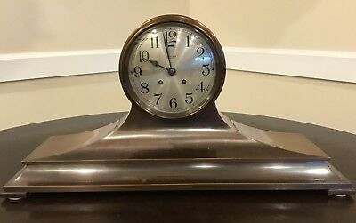 "Vintage And Rare Chelsea Clock Tiffany & Co. Tambour#4 Copper/Bronze 6 1/2"" Face"