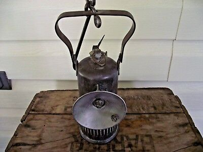 Vintage 1913 Dewar Manufacturing Co. Brooklyn Ny. Miners Carbide Lamp