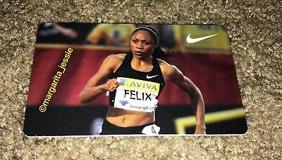 Nike Allyson Felix Gift Card Track And Field No Value Collectible New