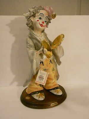 Guido Cortese Scultura Ceramica Very Large Clown With Symbols - Spectacular Art!