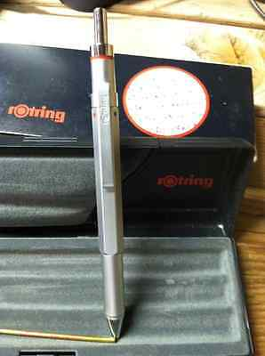 Rotring  600 Trio Ballpoint Pen Silver Pencil  Blue Red Not Knurled New In Box