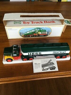 1984 Hess Truck Bank, Mint, Lights Shine Brightly, Rich Natural Bright Colors