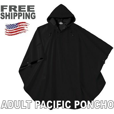 Charles River Unisex Adult Pacific Rain Poncho - New - One Size - Black