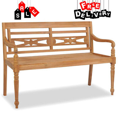 Vintage Wooden Garden Bench 2 Seater Clic Rustic Outdoor Patio Furniture New
