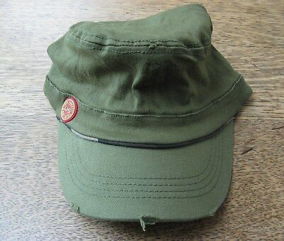 Jameson Irish Wiskey Military Green Cadet Style Elastic Band Hats-Great Hat! NEW