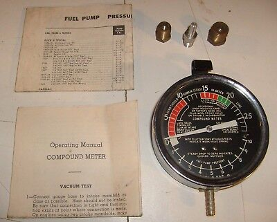 Fuel-O-Vac Compound Meter, Fuel Pressure & Vacuum Tester, Made in the USA, L@@K!
