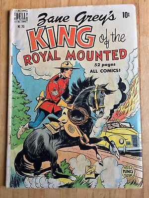 Zane Grey's King of the Royal Mounted; Four Color #265 Dell 2/50 Very Good+