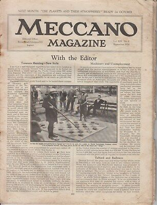 Meccano Magazine  September 1934  No cover pages