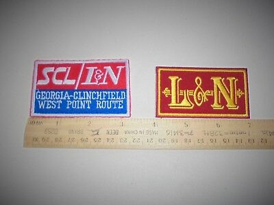 L&N SCL Embroidered Patches Louisville Nashville Seaboard Coast Line Ships Free