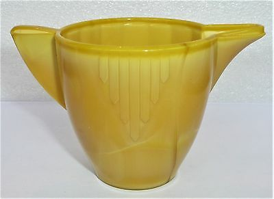 Akro Agate Large Interior Panel Yellow Teapot Base ~Child's Tea Set~ 3 Available
