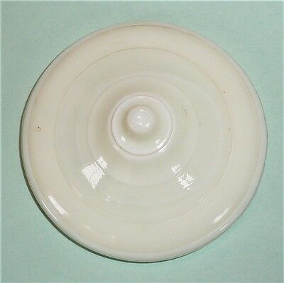 Akro Agate Child Tea Set Large Concentric Ring/Disc & Panel Cream Teapot Lid