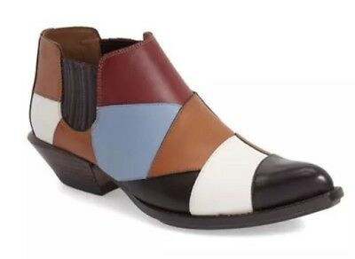 New COACH Patchwork Bandit Shoe Booties Boots Leather Q8173 Womens 5 M $495