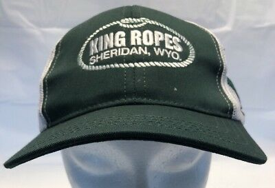 a3cf1531ec1 King Ropes Trucker Mesh Snapback Hat Green White Eagle Logo Made in USA HTM