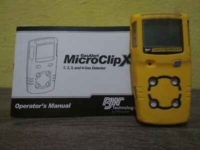 BW Gas Alert MicroClip XT Multi gas Monitor Detector Meter.