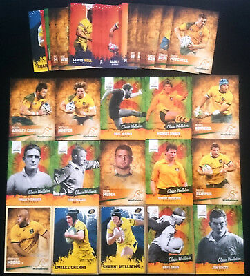 45 x Rugby Trading Cards 2016 Tap N Play Bulk Lot Wallabies inc INSERTS