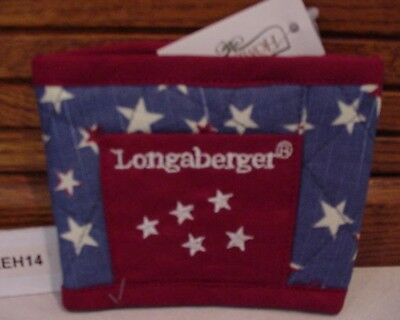 Longaberger Baskets Homestead Stars Fabric Coffee Cup Holder Nu.