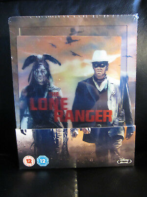 The Lone Ranger Lenticular Blu-Ray Steelbook [UK] Region Free Disney *Read*