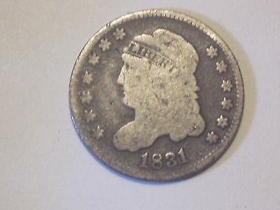 Circulated 1831 Capped Bust Half Dime Ungraded Uncertified