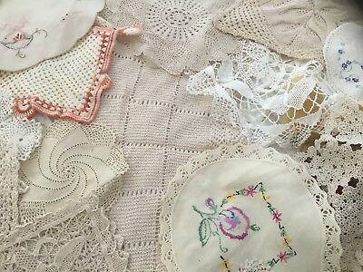 50 Vintage doilies Great For Craft