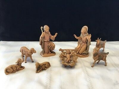 Lot  of 9 Vintage 1983 Fontanini Depose Italy Nativity Figures   (O79)