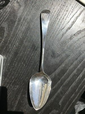George III provincial Sterling silver serving spoon 1800 Exeter England