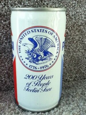 Pepsi 200 years(1776-1976). Crimped steel, pull top. No ml listed