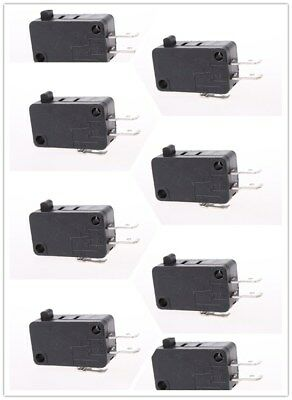 10Pcs Microwave Door Oven Freezer Micro Switch KW8 AC/DC 125V 250V SPDT