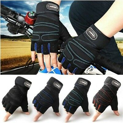 Weight Lifting Gym Gloves Training Fitness Wrist Wrap Workout Exercise Sports UK