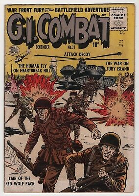 GI Combat #31 solid 1955 Quality Golden Age war comic book create-a-lot & save
