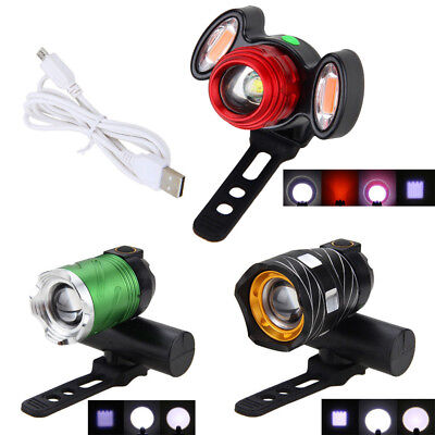 USB 15000LM Zoom XM-L T6 LED Front Head Bicycle light Bike Lamp 3000mAh Headlamp