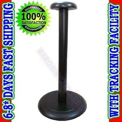 STAND FOR Medieval Wooden Helmet Stand Display for Helmet - Foldable Black Stand