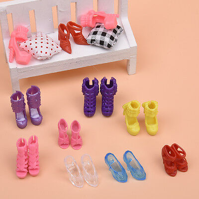 10 Pairs of Shoes For Doll Vintage ss Set Random Plastic Nice
